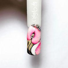 Вот он мой первый фламинго огромное спасибо @ramazanova_nails #росписьногтей#рисункигельлаками#райскиептицы#flamingonails