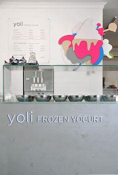 'Yoli Frozen Yogurt' Store Interior // Amseldrossel | Afflante.com