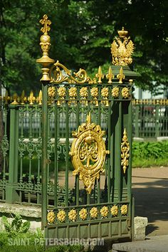 Wrought-iron Fence Around Cabin of Peter the Great