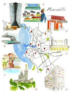 Emily Robertson - Map of Marseille