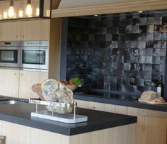 Zelliges - Marokkaanse tegels - dual ovens installed horizontally vs. vertically...like!