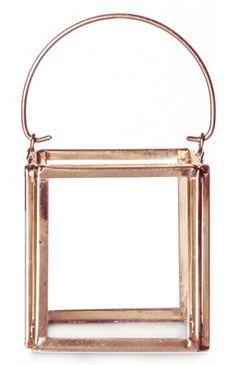 Portavelas de cristal color bronce primark 2 euros