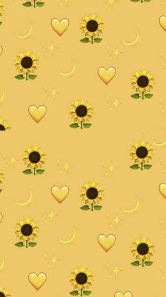 Pin on sunflower wallpaper Tumblr Wallpaper, Wallpaper Pastel, Iphone Wallpaper Yellow, Emoji Wallpaper Iphone, Cute Emoji Wallpaper, Disney Phone Wallpaper, Sunflower Wallpaper, Homescreen Wallpaper, Iphone Background Wallpaper