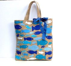 Custom order Jute Tote bag handmadeartisticapplique by Apopsis