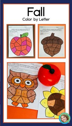 80 pages of fall alphabet practice for preschool and kindergarten - perfect for back to school literacy learning!  With 8 versions each of 10 pictures, you'll easily differentiate for all your students.  These printable NO PREP worksheets even have the color code show in color, to make it super easy for young children to be successful - and the completed pages make a beautiful display! Includes sunflower, apple, acorn, owl, mushroom, corn, bee hive, jelly jar, leaf and scarecrow. Kindergarten Reading Activities, Reading Resources, Alphabet Worksheets, Preschool Worksheets, Jelly Jars, 10 Picture, Letter Recognition, Fall Pictures, Toddler Preschool