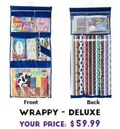 Wrappy Deluxe Gift Wrap Organizer