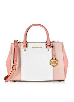 Michael Kors Sutton Tricolor Medium Saffiano Leather Satchel Bag