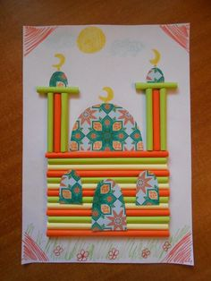 Celebrate the festival of sacrifice with some magnificent Mosque Crafts for Eid al-Adha! Turn them into greeting cards, decor or wall hangings! Eid Crafts, Ramadan Crafts, Ramadan Decorations, Clown Crafts, Diy For Kids, Crafts For Kids, Arts And Crafts, Ramadan Activities, Activities For Kids
