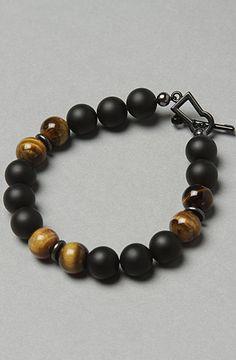 The Matte Black & Tiger Bracelet by Mister