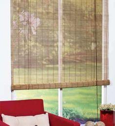 Cortina de tela de saco sujeta con pinzas a cable de acero - Cortina de bambu ...