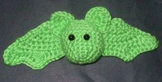 Well.. because I had green out, and I wanted to check a wing pattern. Gauge is unimportant, but you want to use a hook with your yarn that will work up a bit tight. I used Caron Simply Soft and a size F hook. You need two eyes, beads, button, safety eyes, whatever. I used safety eyes. You will…