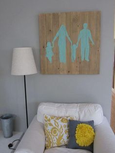 DIY Home Decor Wall Art: DIY family silhouette wall art