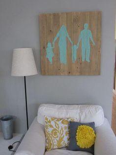 DIY Tutorial: Home / DIY family silhouette wall art - Bead&Cord