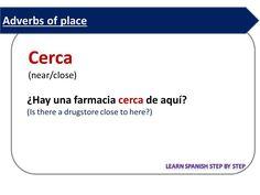 Spanish lesson 106: Adverbs of place - Adverbios de lugar