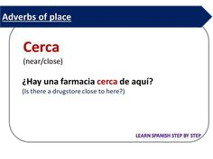Spanish lesson 106: Adverbs of place - Adverbios de lugar