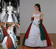 Romy Schneider's Sissi (3) Hungarian Party dress repro.