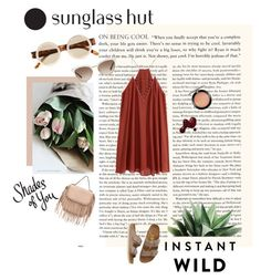"""""""Shades of You: Sunglass Hut Contest Entry"""" by fanira ❤ liked on Polyvore featuring Le Specs, MAC Cosmetics, Birkenstock and Gucci"""