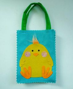 deco with felt for easter | Felt Bag Easter Decoration