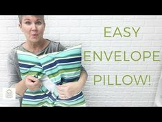 In this fast and easy envelope pillow cover tutorial, you'll learn how to sew a . : In this fast and easy envelope pillow cover tutorial, you'll learn how to sew a removable pillow cover that doesn't require inserting a dreaded zipper! Handmade Pillow Covers, Handmade Pillows, Diy Pillows, Decorative Pillow Covers, Sewing Pillows, Floor Pillows, Cushions, Throw Pillows, Baby Sewing Projects