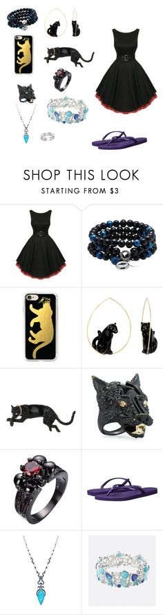 """Black Panther"" by samsgirl2014 ❤ liked on Polyvore featuring Casetify, Nach Bijoux, Alexis Bittar, Havaianas, Stephen Webster, Avenue and BillyTheTree"