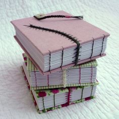 """Bug Book """"Dusty Pink""""  recycled hand bound notebooks Kate Bowles beautiful bindings"""