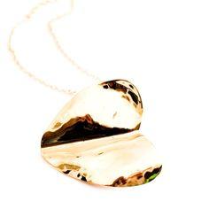 Beaten Heart Pendant Necklace