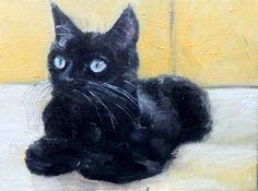 COMMISSION Pet Portrait Cat 24 x 30 cm oil by NancyvandenBoom, €200.00