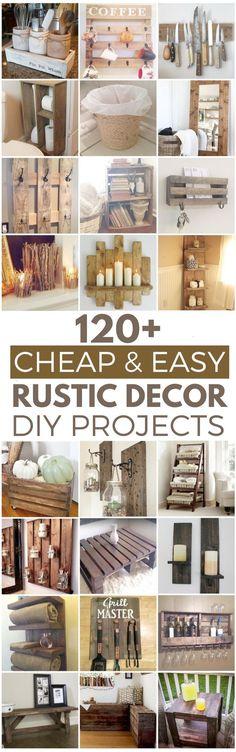 120 Cheap and Easy Rustic DIY Home Decor Ideas #easyhomedecor
