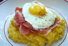 Father's Day brunch recipes: Ham, eggs and polenta recipe from One Hungry Mama