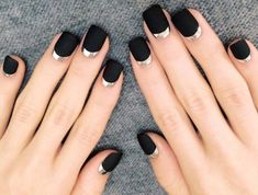 black nails Archives | Nail Designs