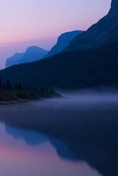 Sunrise photo of Redrock Lake in Glacier National Park, Montana   by Andy Cook