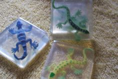 Lizard Soaps   30 soaps Reptile Party soaps. $30.00, via Etsy.  I could make these!