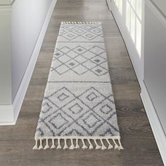 Nourison Diamond Trellis Shag Geometric Grey/Slate Area Rug, Size: inch x inch, Gray Trellis Rug, Trellis Design, Mohawk Home, Contemporary Decor, Color Schemes, Area Rugs, Grey Slate, Gray, Rug Size