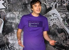J!NX : World of Warcraft Epic Purple Shirt Premium Tee - Clothing Inspired by Video Games & Geek Culture