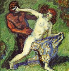 Fishing game (Faun and Nymph) - Franz Stuck