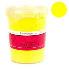 bienmanger aromes et colorants colorant alimentaire jaune citron e104 poudre liposoluble - Colorant Patisserie