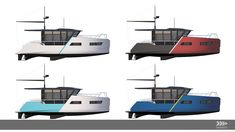 vik unveils electric boat that can be recharged from solar panels or wind power Wind Power, Solar Power, Small Diesel Generator, Small Yachts, Shower Cabin, Electric Boat, Floating House, Boat Design, Power Boats