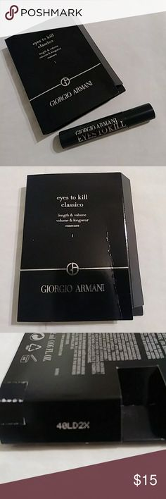 Eyes to Kill 👀 New & Unopened Giorgio Armani Eyes to Kill  Deluxe Size Mascara Color black  Authentic  Bundle & Save 👀 😎 Giorgio Armani Makeup Mascara