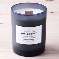 10 x Candle labels / Simple White Soy Candle by Twomysterybox