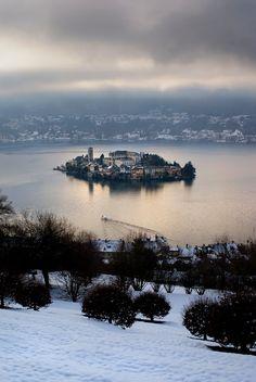 San Giulio Island (Novara), Lake Orta, Piemonte, Italy - It's not Aosta region…