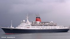 CARONIA Cunard Liner of this name - formally Vistafjord. Merchant Navy, Merchant Marine, Cunard Cruise Line, Cunard Ships, Ship Tracker, Steam Boats, Cruise Travel, Tall Ships, Battleship
