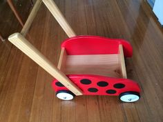 Childrens Wooden Wheelbarrow Trolley