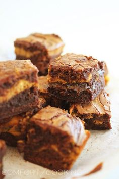 The Comfort of Cooking » Easy Pumpkin Swirl Chocolate Brownies @Lexi Miller let's make them
