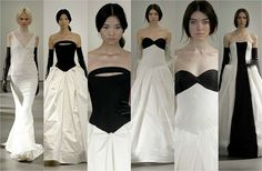 B textures and simple architectural lines by Vera Wang @ New York Bridal Week 2013