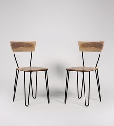 Swoon Editions Dining chair, industrial style in mango wood and black - £129
