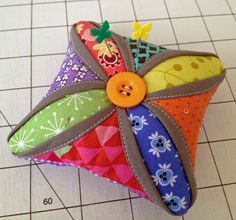Excellent Tutorial for Ingenious Faux Cathedral Window Pincushion | Diary of a Quilt Maven