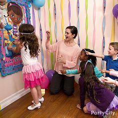 Everyone gets a turn to fix Stuffy's boo-boos with the Doc McStuffins party game take on pin-the-tail on the donkey!