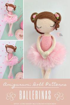 Ballerina Crochet Doll Pattern, 14,5 inches - 37cm Amigurumi Doll Pattern, Ballerina Skirt, Tutu Diy Ballerina Rosie, Amigurumi Crochet Pattern. Ballerina Crochet Doll Pattern 14,5 inches - 37cm This is a DOWNLOADABLE TUTORIAL. Written in English. Using US terminology. Crochet Doll Pattern, Crochet Patterns, Diy Tutu, Ballerina Doll, Amigurumi Doll, Doll Patterns, Crochet Hooks, Crochet Necklace, Dolls