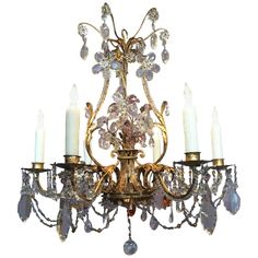 Early 20th Century French Chandelier Attributed to Maison Bagues 1