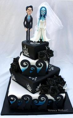 Corpse bride cake by Verusca Walker (1/6/2013)  View details here: http://cakesdecor.com/cakes/42622